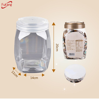 2018 Best selling Wholesale plastic sealing clear airtight Cereal nut tea candy storage Large Jars