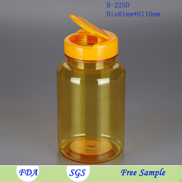 8 oz Clear Plastic PET Bottle Containers with Lids Wholesale