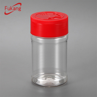 200gr plastic spice bottle for powdered foods, 200ml packaging spice jar with shaker lid