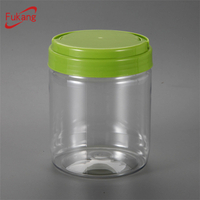 20 oz Plastic Bottles Clear PET Jars Packaging Food Storage