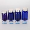 100cc custom color PET plastic medicine bottle with flip top cap