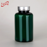 400ml green plastic capsule pill bottle plastic pill container