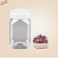 Wholesale 500ml clear plastic PET jars for food