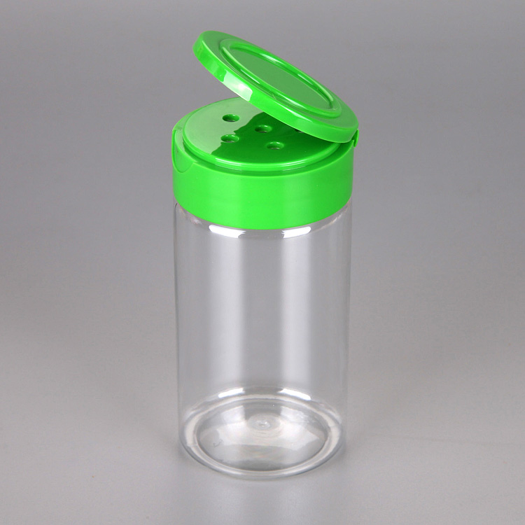 Hot sale new design PET plastic salt/ pepper/ spice bottle