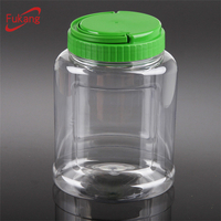 1200ml plastic containers for bulk candy with lid,1.2L ODM/OEM PET jar for snacks food