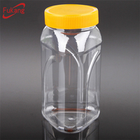 1.5 liter pyramid shape plastic jars, clear special container for tea, bpa free plastic food jars wholesale supplier