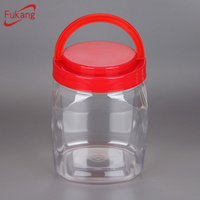 60oz wide-mouth plastic cosmetic container, large plastic jar with screen printing, pet shampoo plastic bottles manufacturer