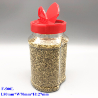 500ML Plastic Spice Shaker Bottle for Curry powder