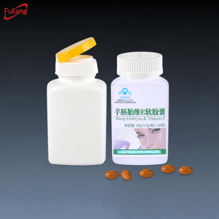 150cc flat shape pharmaceutical HDPE plastic capsule pill bottle